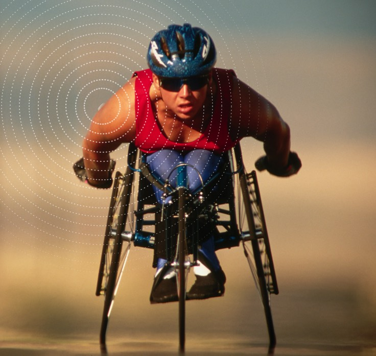 Runner, Swimmer and wheelchair racer wearing Libre Sense Glucose Sport Biosensor